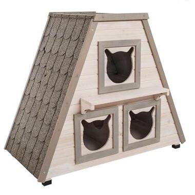 Kattenhuis voor drie katten