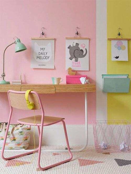Kleur op de muur in kinderkamer
