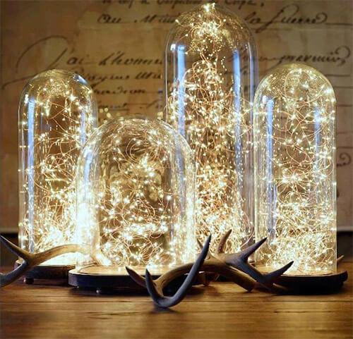Lichtjes in glazen stolp