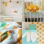 Babykamer okergeel: 7 voorbeelden