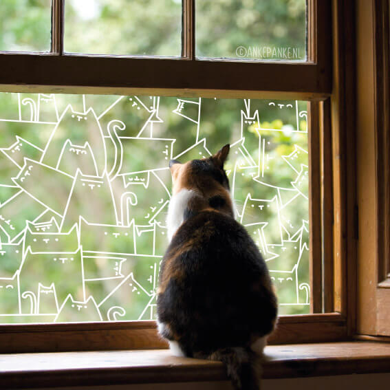 raamtekening katten
