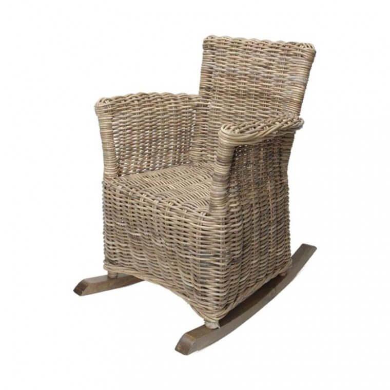Vierkante rieten schommelstoel