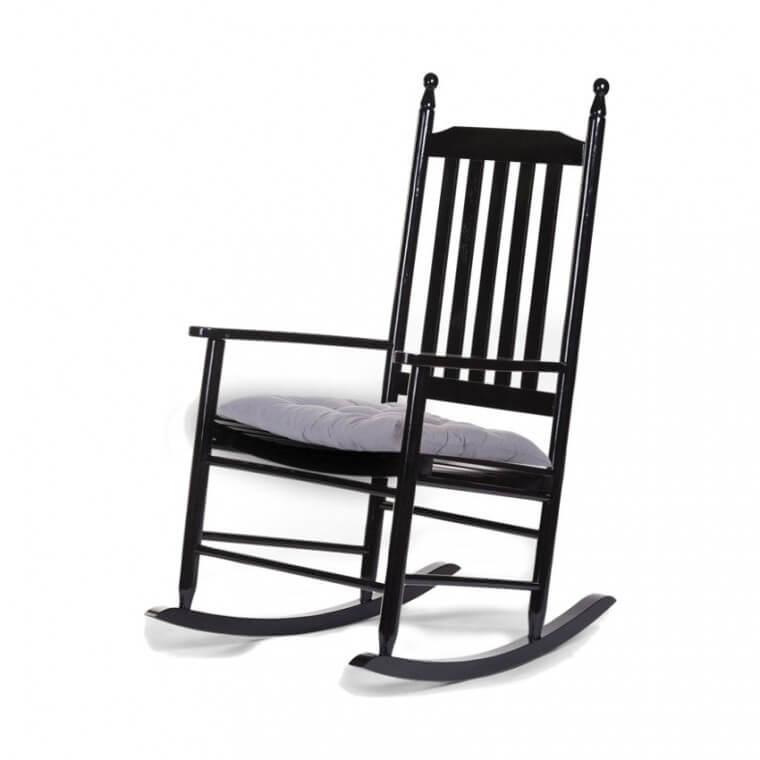 Klassieke zwarte schommelstoel