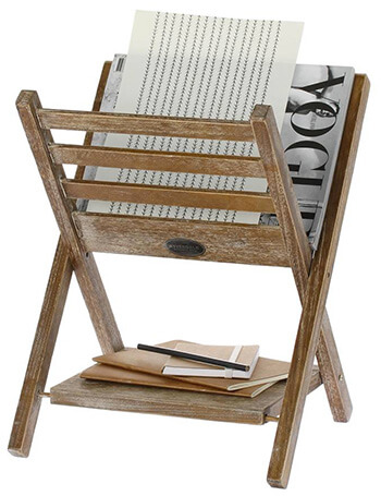 Tijdschriftenrek van hout