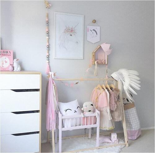 eenhoorns-voor-meisjeskamer-poster