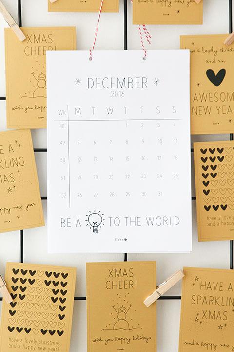 Gratis poster kalender Elske Leenstra