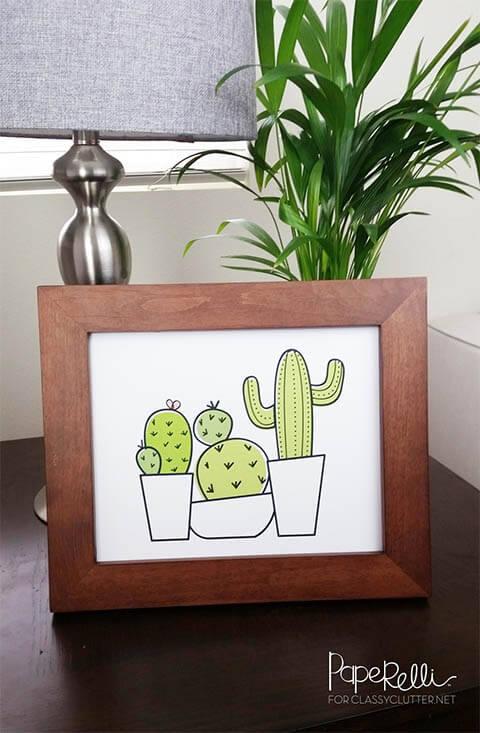 Gratis printable cactus Paperelli
