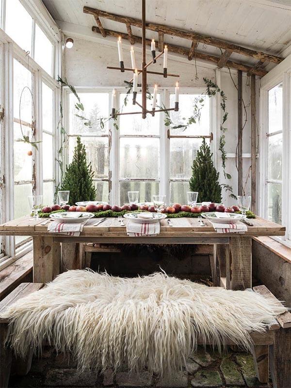 kerstdecoratie idee landelijk