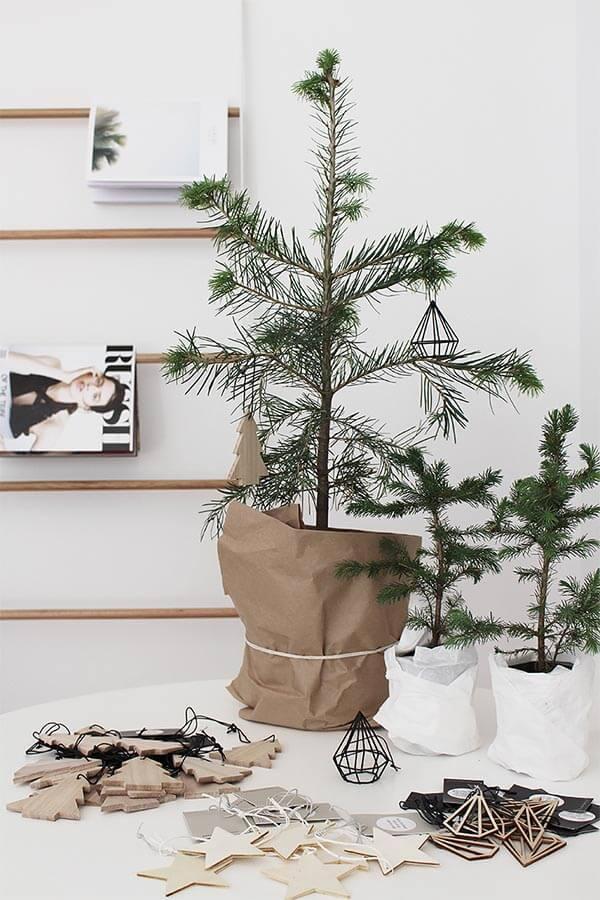 kerstdecoratie idee mini boom