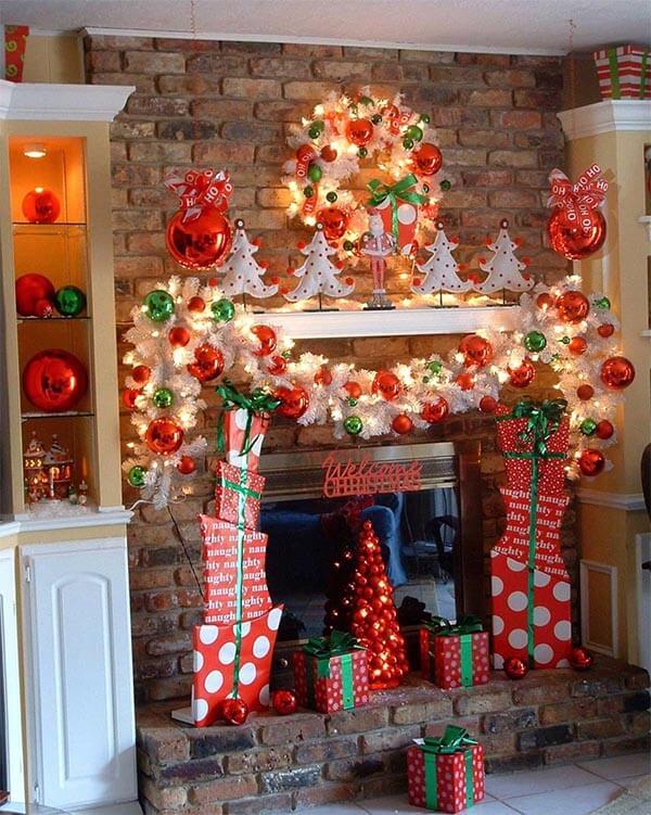 kerstdecoratie idee rood en groen