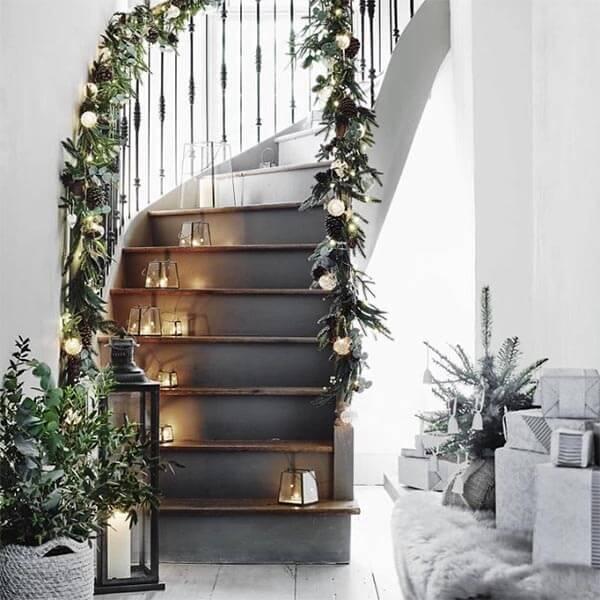 kerstdecoratie idee trap
