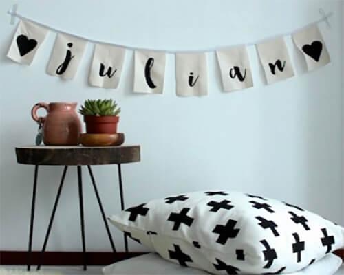 woondecoratie ophangen slinger