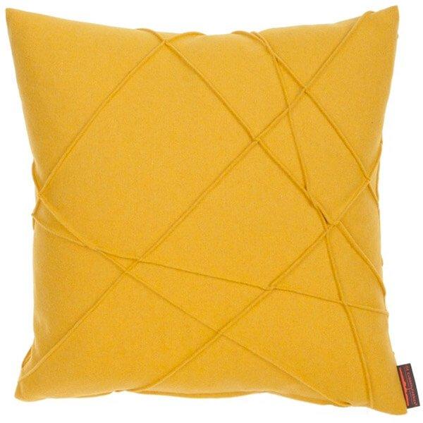 sierkussen bank geel