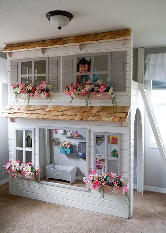 10 levensgrote poppenhuizen voor kinderen (bovenverdieping)