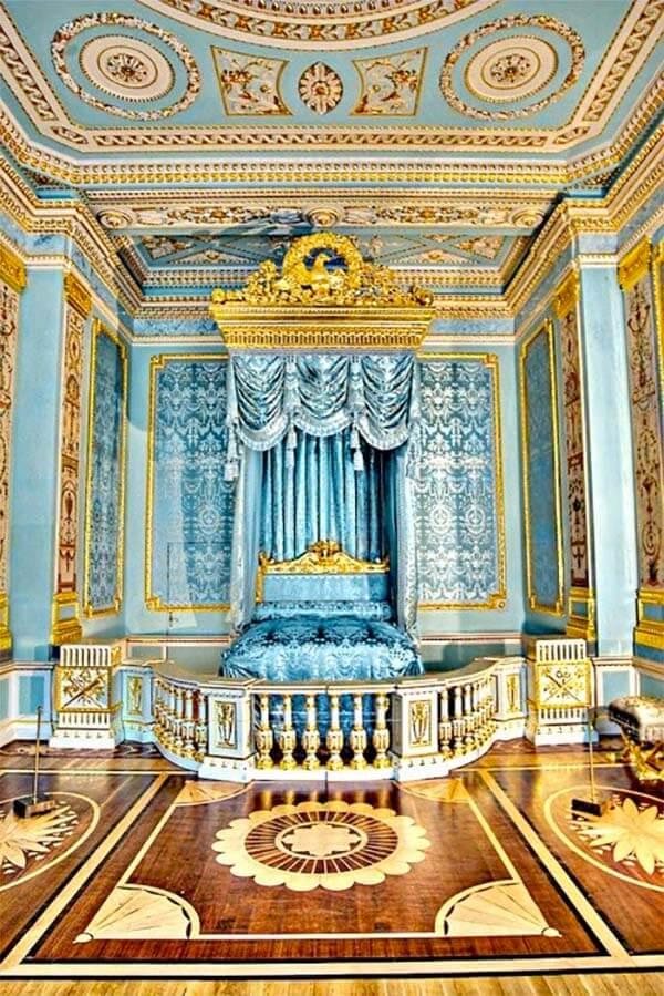 Barok slaapkamer afscheiding