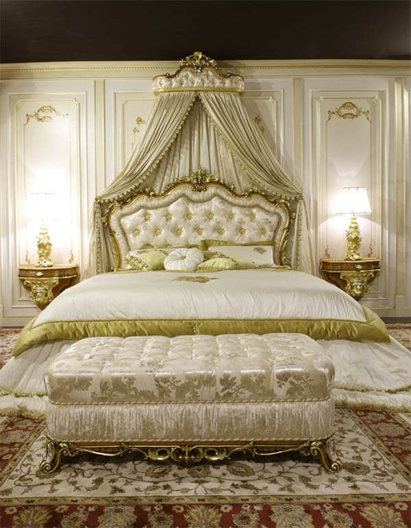 Barok slaapkamer koninklijk