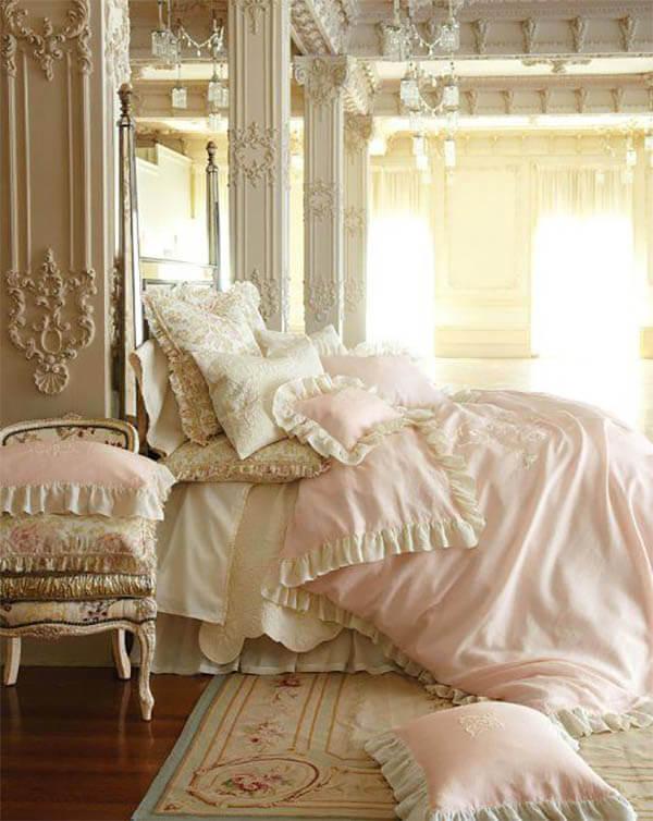 Barok slaapkamer romantisch