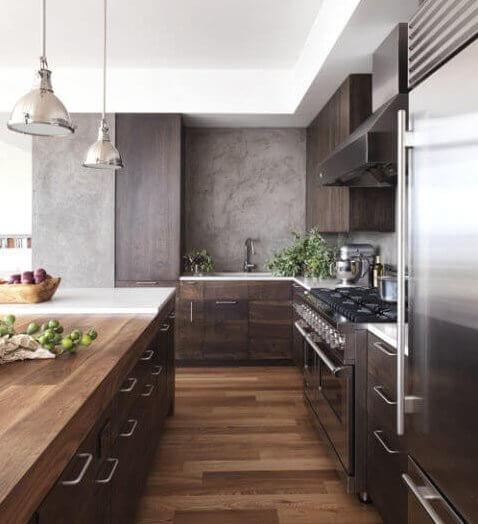 Industriele keuken met modern tintje