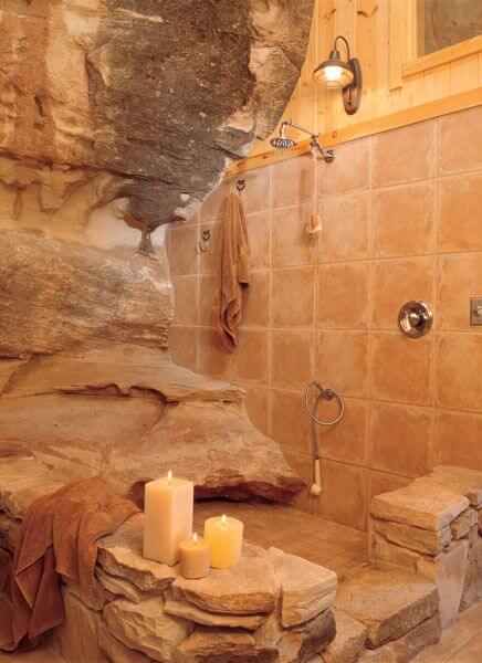 Naturalistische badkamer