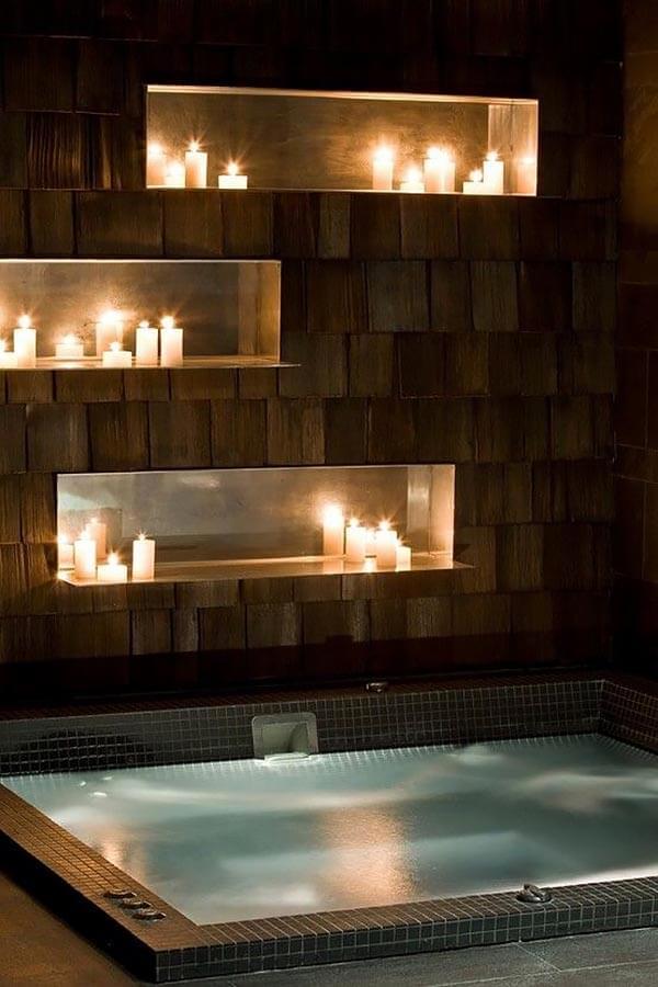 Romantische badkamer sfeerverlichting