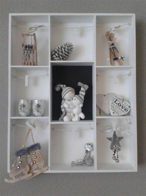 Winterdecoratie letterbak