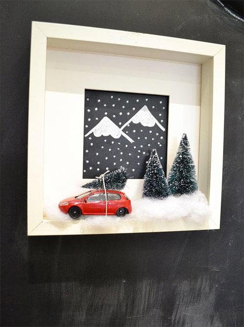 Winterdecoratie lijst