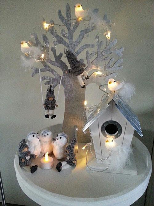 Winterdecoratie vogels