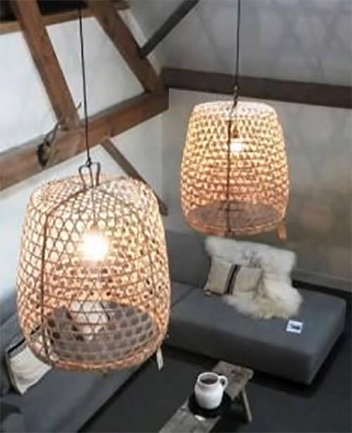 7 keer bamboe lampen