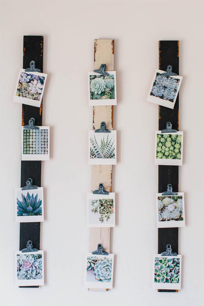 8 DIY ideeën voor foto's in huis hout