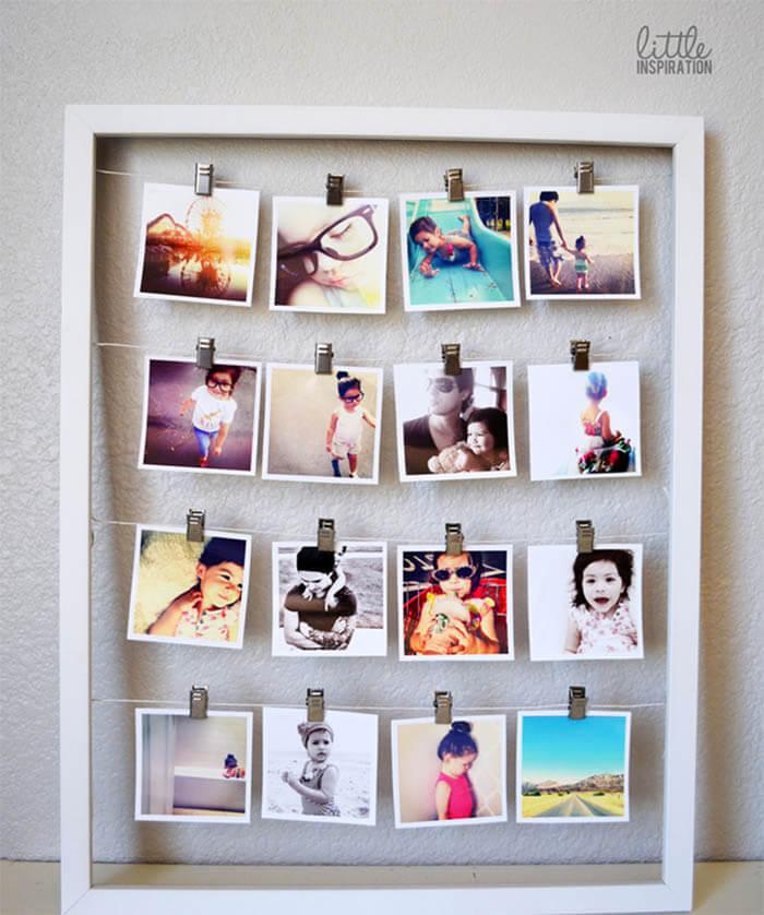 8 DIY ideeën voor foto's in huis lijst