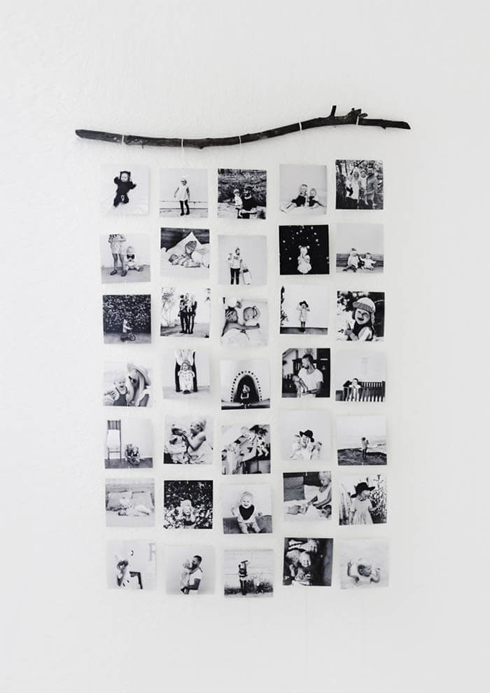 8 DIY ideeën voor foto's in huis tak