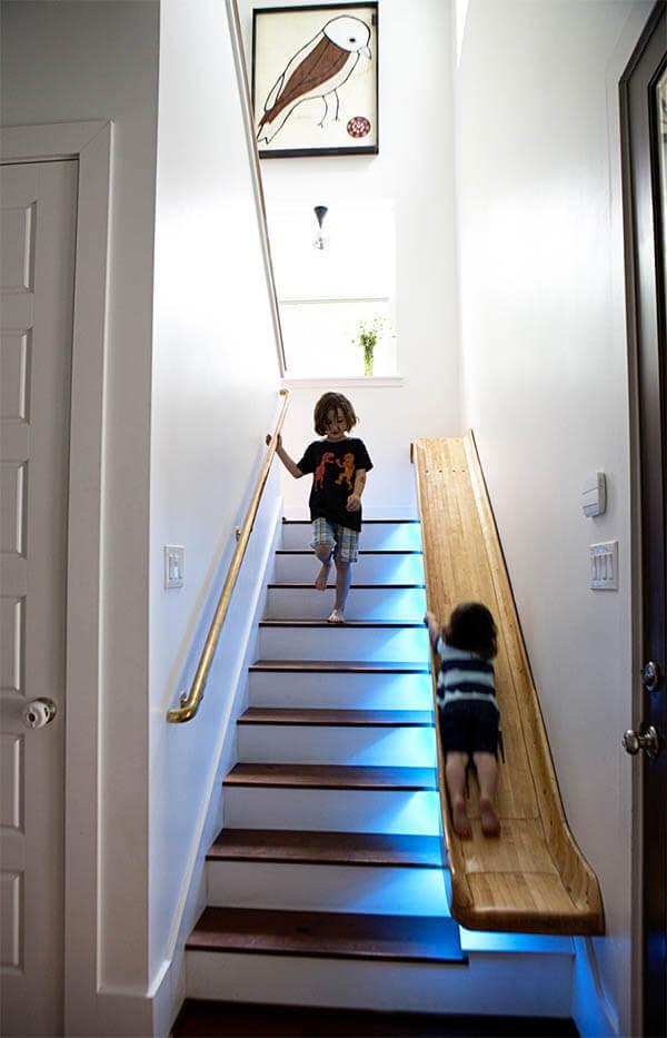 10 voorbeelden van bijzondere trappen ik woon fijn - Kleur trap schilderij ...