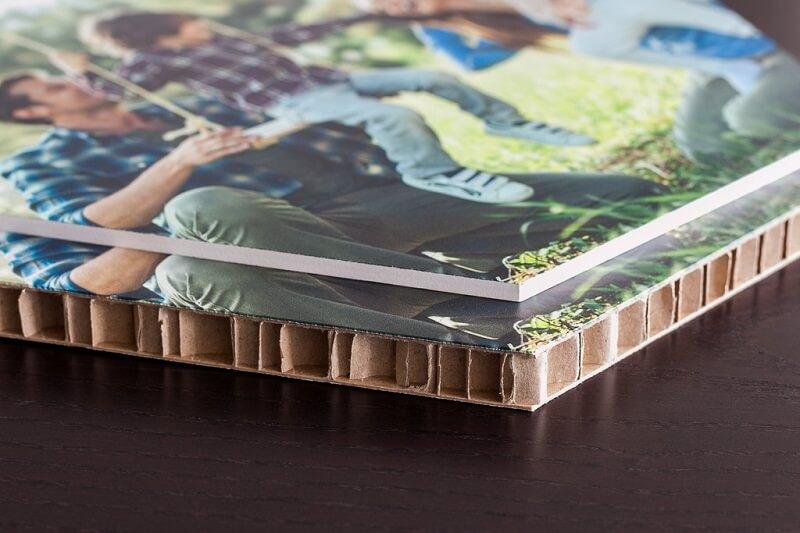 Karton als wanddecoratie