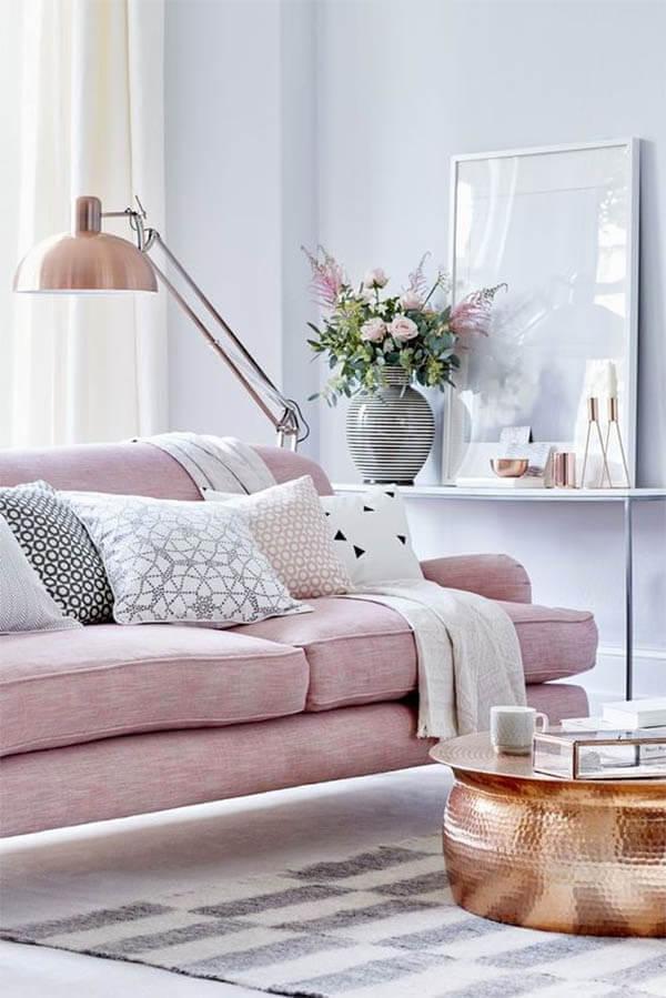 Kleur in huis: roze bank