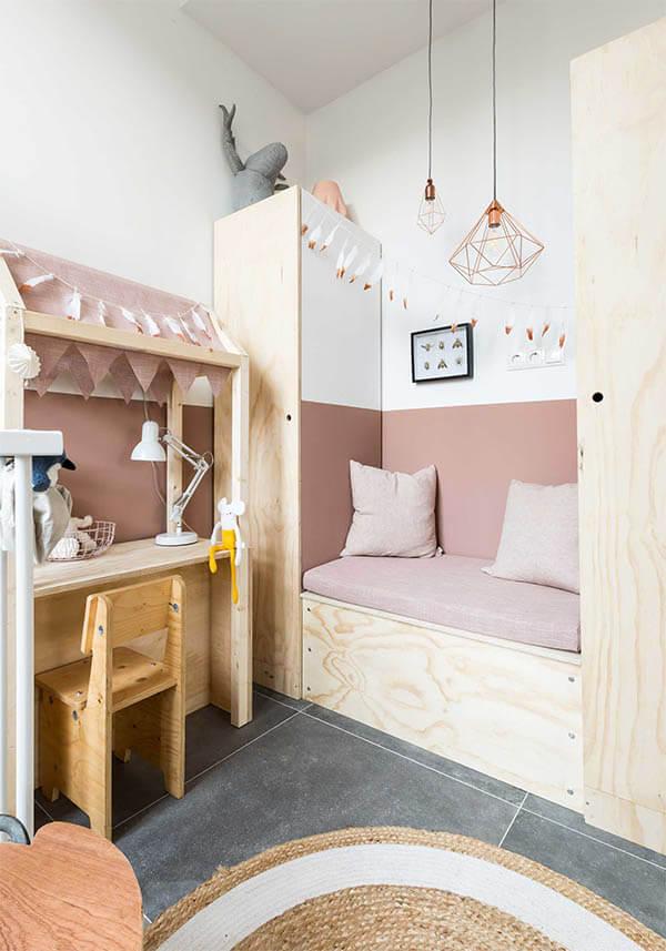 Kleur in huis: roze kinderkamer
