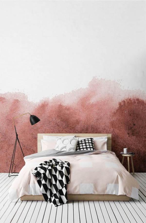 Kleur in huis: roze muur