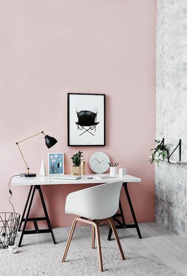 Kleur in huis: roze verf