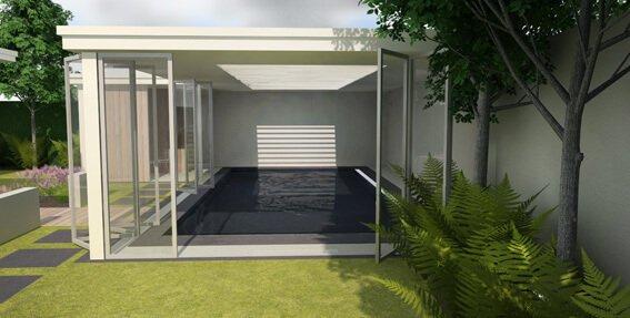 Ontwerp tuin met zwembad ik woon fijn - Ontwerp zwembad meubels ...