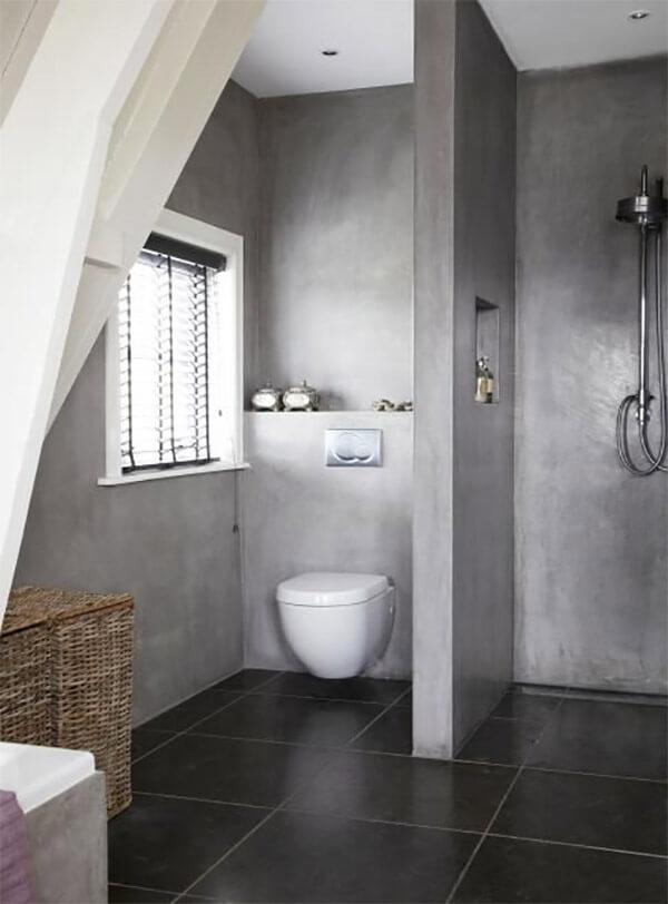 Badkamer vormgeving: beton
