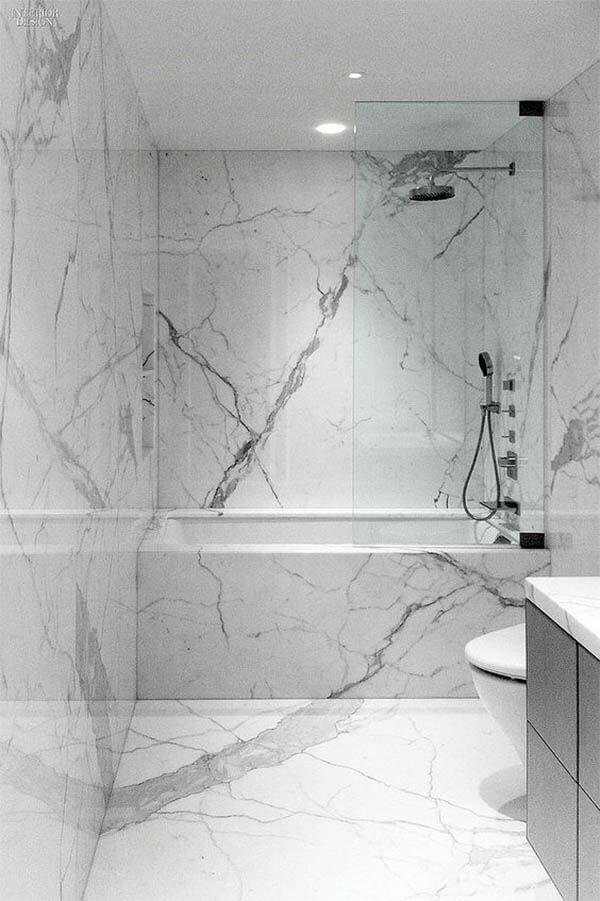 Badkamer vormgeving: marmer