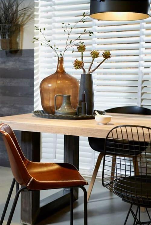 Kleur in huis 10 keer blauw en bruin ik woon fijn for Decoratie industrieel