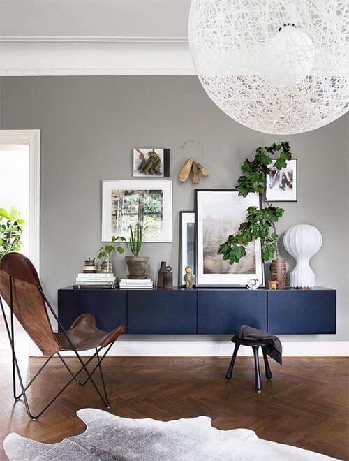 Kleur in huis: blauw en bruin donker