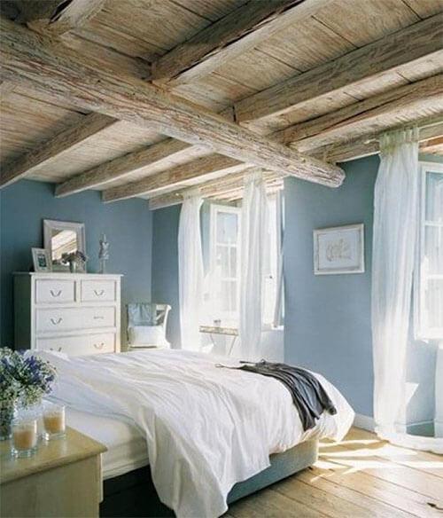 Kleur in huis: blauw en bruin licht