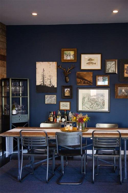 Kleur in huis: blauw en bruin overheersend blauw
