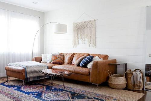 Kleur in huis: blauw en bruin overheersend bruin