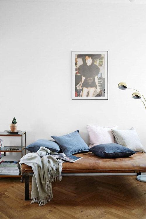 Kleur in huis: blauw en bruin wit