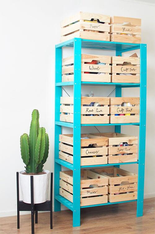 Kleurrijke meubel make-overs: kast