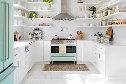 Kleurrijke meubel make-overs: keuken