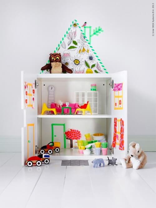 Kleurrijke meubel make-overs: poppenhuis