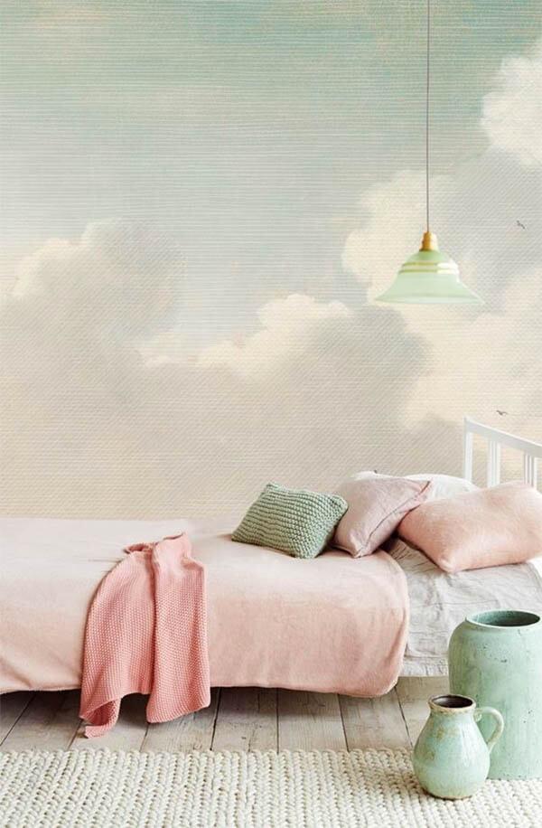 Pastel interieur bed
